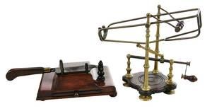 Brass Mechanical Wine Cradle, Tobacco Cutter