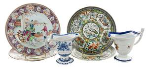 Six Chinese Export Porcelain Objects