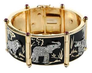 14kt. Gold, Diamond and Enamel Bracelet
