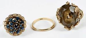 Three 14kt. Gold Rings
