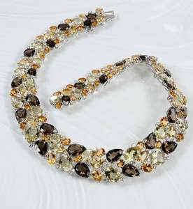 18kt. Gold and Gemstone Necklace