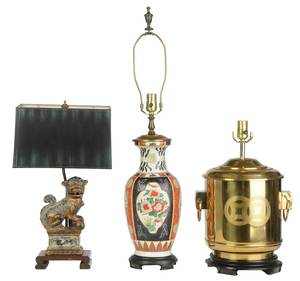 Three Asian Style Table Lamps