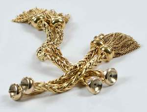 18kt. Gold and Diamond Necklace Component