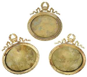 40 French Oval and Small Round Bronze Frames