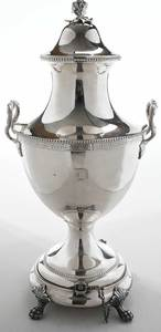 American Coin Silver Hot Water Urn