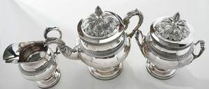 Three Piece New York Coin Silver Tea Service