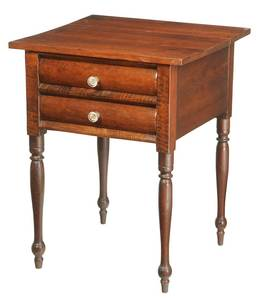 Southern Federal Cherry Two Drawer Table