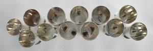Set of Twelve Sterling Mint Julep Cups