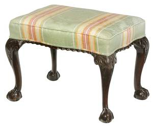 Chippendale Style Mahogany Serpentine Footstool