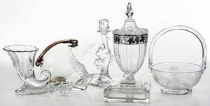 18 Glass Tableware, Decorative Objects, Heisey