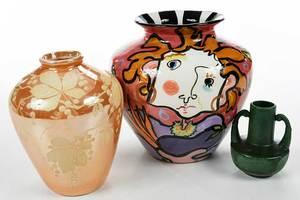 Three Pieces Art Pottery