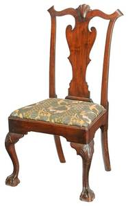 Pennsylvania Chippendale Shell Carved Side Chair