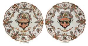 Pair of Leeds Scalloped Edge Round Platters