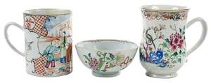 Three Chinese Export Famille Rose Items