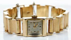Paul Buhre Retro Gold Watch