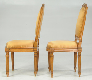 Pair Provincial Louis XVI Style Side Chairs