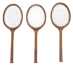 Three Monumental Tennis Rackets, Briar Cliff