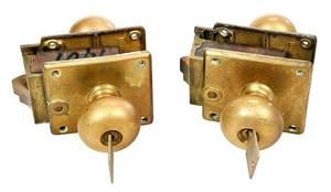 Set 29 Corbin Bronze Locking Door Sets