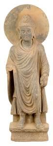 Carved Schist Figural Buddha