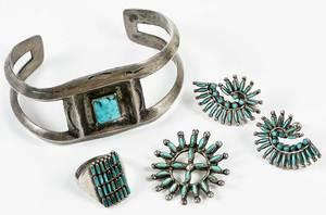 Four Pieces Southwest Jewelry