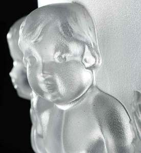 Lalique Glass Luxembourg Frosted Glass Garniture