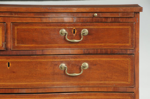 Fine Southern Federal Serpentine Chest