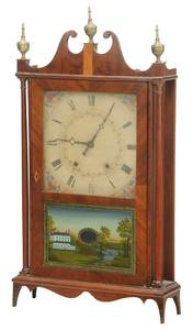 Eli Terry Pillar and Scroll Shelf Clock