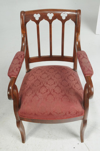 Set 14 Gothic Revival Mahogany Dining Chairs