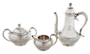 Three Piece Tiffany & Co. Sterling Coffee Set