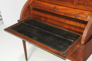 Louis XVI Style Cylinder Desk and Bookcase