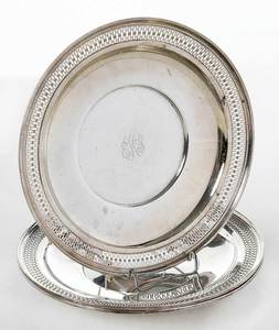 Three Matching Sterling Plates