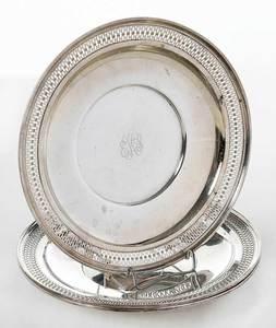 Three Matching Sterling Plates