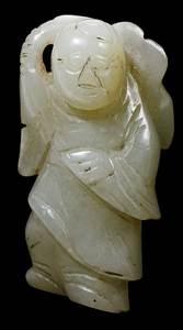 Jade Figure Man Lotus Blossom