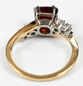 Jabel 18kt. Gold Garnet & Diamond Ring