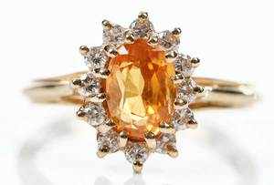 14kt. Gold, Sapphire & Diamond ring