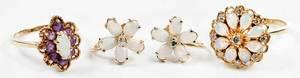 Three Pieces 14kt. Gemstone Jewelry