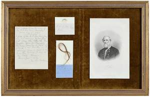 Framed Robert E. Lee Historical Memorabilia