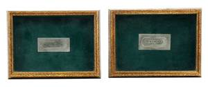 Two Framed Silver Engraving Plates