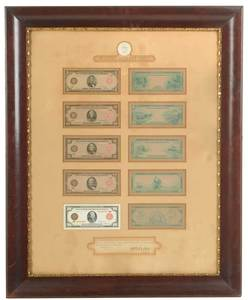 Framed Federal Reserve Proof Notes