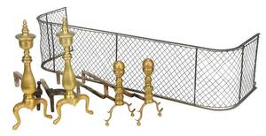 Five Brass Fireplace Accessories