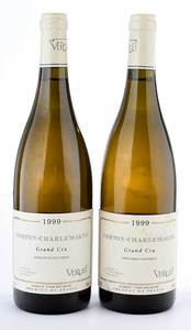 Two Bottles 1999 Verget Corton-Charlemagne Grand Cru