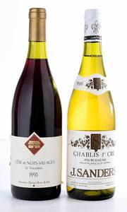 Two Vintage Bottles Burgundy