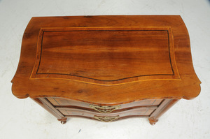 Baroque Inlaid Walnut Two Drawer Petite Commode