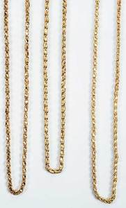 Three 14kt. Gold Chains