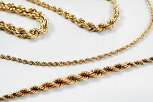 Four 14kt. Gold Chains