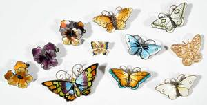11 Butterfly & Flower Brooches