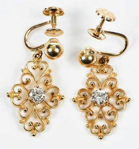 14kt. Gold & Diamond Earrings