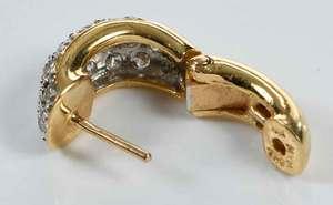 18kt. Gold & Diamond Huggie Earrings