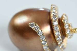 14kt. Gold, Diamond & Pearl Pendant