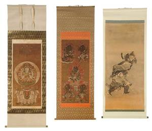Three Japanese Scrolls, Deities